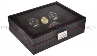 Pudełko na 10 zegarków KARBON