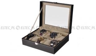 Pudełko na 10 zegarków materiałowe