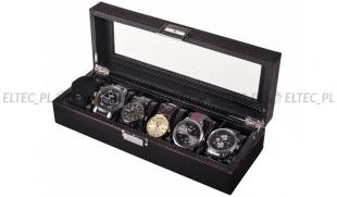 Pudełko na 6 zegarków KARBON