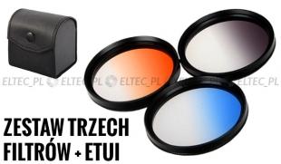 Zestaw 3 filtrów połówkowych 77mm w FUTERALE