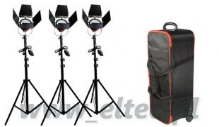 Zestaw oświetleniowy 3x lampa 800W Spot Light, Red Head, 3x statyw + walizka, model PL-01