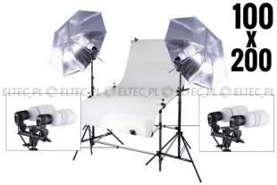 Zestaw studyjny, stół bezcieniowy 100x200cm